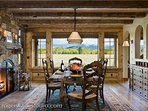 dining table seats 8 with amazing views