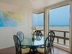 Dining area with view to the beach