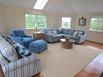 All new furnishings in the vaulted living room