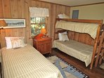 Next door you'll find this room with a twin and a set a bunks