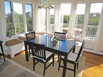 Waster views and plenty of natural light at the dining room table