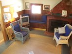 The main living area has a TV with cable and the cottage is equipped with WiFi