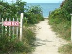 Here's your path to the beach and Cape Cod Bay.