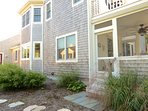From that east side patio, you can walk back to the screened porch.