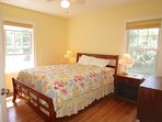 This is the one bedroom on the main level, featuring a roomy queen size bed.