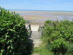Withe the tide out, you can walk for miles on the famous Brewster Flats.