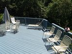 Back at the house you have a huge private deck overlooking the secluded back yard.