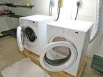 New washer and dryer are located in the basement