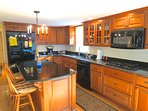 All new appliances, top quality cookware, granite countertops, the works.