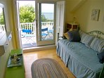 Third bedroom upstairs has a daybed and Bay views.