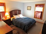 Another bedroom, another queen.  Both queen bedrooms are in the home's newer section.