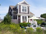 Bright, recently built beach house, 200 feet from a private Brewster beach. You have some Bay views from the second...