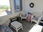 Main level breezeway lounge, just off the twin bedroom shown above. A welcome private retreat for grandparents...