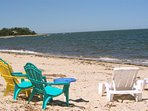 What a great beach you're on!  Only 13 cottages share 450 feet of sandy private beach.
