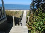 Your path to the beach is just off your side deck.  You're in the sand in about 30 seconds.