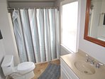The full bath upstairs has a tub/shower combination