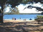 3-5 minute walk to this picturesque beach on Sheep's Pond