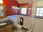 The guest studio full bath