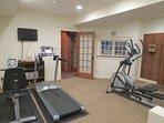The lower level features a work out room...