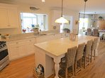 Fabulous kitchen with granite countertops and an island
