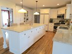 Spacious kitchen that provides plenty of space to cook and catch-up with family
