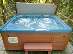 Your private outdoor hot tub