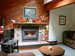 Enjoy a cozy fire during your stay.