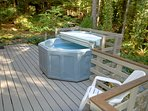 Enjoy the scenery from the hot tub.