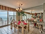 Dining area . . . also with a beautiful Gulf view!