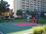 Basketball hoop onsite