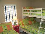 Bunk room with Twin/Full and single twin bed