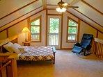 the loft area with futon