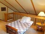 The futon in the loft