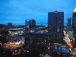 Incredible night time views of the Atlanta skyline from the balcony