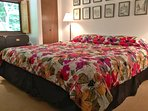 The 1st of two bedrooms located on the main floor has a king sized bed!