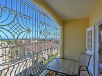 Admire phenomenal views of the city from the private balcony!