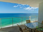 This is an 'end' unit with a huge balcony.  Enjoy outside dining while you sit in the shade and take in the majestic...