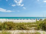 Panama City Beach's signature sugar white sands and emerald waters are at your door!