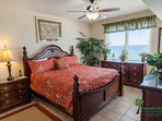 The Captain's Quarters master suite has a Gulf front view.  There's nothing like sleeping to the sounds of the ocean...