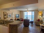 Beautiful views of the pool and the Gulf of Mexico from the kitchen, great room & the master suite!