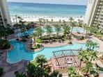 Tropical pool deck, paradise!