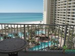 Great view of the Gulf and the pool from your private balcony!