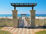 Shores of Panama's dramatic beach gate entry.