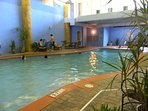 The indoor pool is a tropical escape from the sun or the rain.  Great in the cooler months of the year, too.
