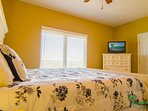 Your Master Suite is ocean view with a flat screen TV, too!