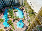 The best lagoon pool and pool deck in Panama City Beach! Breathtaking! Full Bar and Tiki Hut for poolside drinks and...
