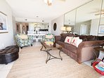 Living Room Gulf Dunes 309 Fort Walton Beach Okaloosa Island Vacation Rentals