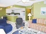 Living Room Islander Beach 6009 Fort Walton Beach Okaloosa Island Vacation Rentals