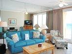 Living Room Gulf Dunes 609 Fort Walton Beach Okaloosa Island Vacation Rentals