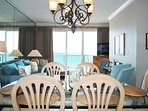 Dining Area Gulf Dunes 609 Fort Walton Beach Okaloosa Island Vacation Rentals